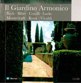 Il Giardino Armonico: Bach, Biber, Corelli, Locke, Monteverdi, Rossi, Vivaldi (11CD, Warner)