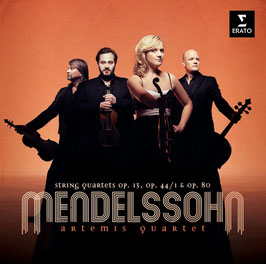 Felix Mendelssohn-Bartholdy: String Quartets op. 13, op. 44/1 & op. 80 (2CD, Erato)