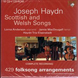 Franz Joseph Haydn: 429 Folksongs Arrangements, Scottish and Welsh Songs (18CD, CD-rom, Brilliant)