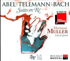 Carl Friedrich Abel, Johann Philipp Telemann, Johann Sebastian Bach: Suites en Ré (ZigZag)