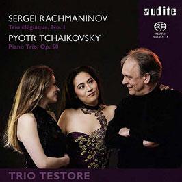 Sergei Rachmaninoff: Trio elegiaque No. 1, Pyotr Ilych Tchaikovsky: Paino Trio Op. 50 (SACD, Audite)