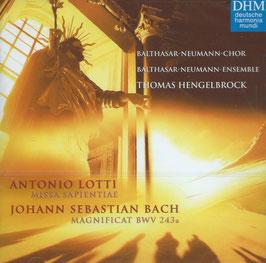 Antonio Lotti: Missa Sapientiae, Johann Sebastian Bach: Magnificat BWV 243a (Deutsche Harmonia Mundi)