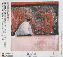 Ludwig van Beethoven: Quatuor no. 10, op. 74 'Les Harpes', Shostakovich: Quatuor no. 5, op. 92 (ZigZag)