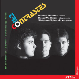 Trio Contrastes: Khatchaturian, Bartók, Stravinksy, Gluck (Atma)
