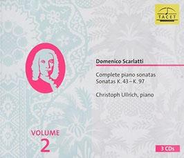 Domenico Scarlatti: Complete Piano Sonatas, volume 2, Sonatas K.43 - K.97 (3CD, Tacet)