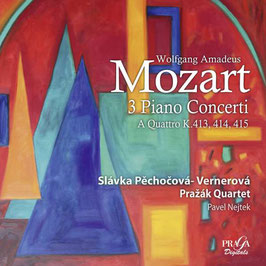 Wolfgang Amadeus Mozart: 3 Piano Concerti a Quattro K.413, 414, 415 (SACD, Praga)