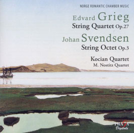Edvard Grieg: String Quartet op. 27,  Johan Svendsen: String Octet op. 3 (SACD, Praga)