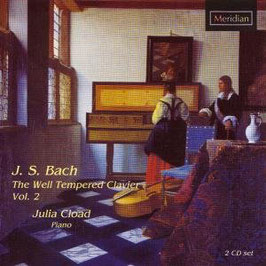 Johann Sebastian Bach: The Well-Tempered Clavier Vol. 2 (2CD, Meridian)