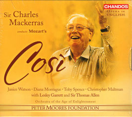 Wolfgang Amadeus Mozart: Così fan tutte of The School for Lovers (3CD, Chandos)