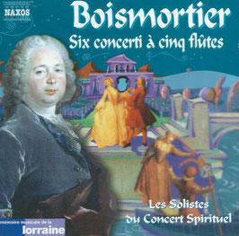 Joseph Bodin de Boismortier: Six conerti à cinq flutes (Naxos)