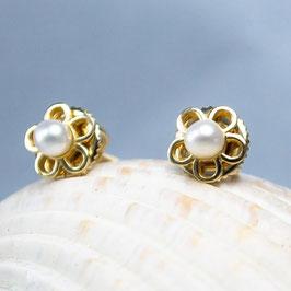 Ref.: 00229 Aretes en oro y perla