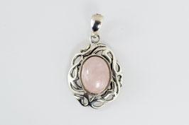 Ref.: 00345 Dije de plata925 y cuarzo rosa.