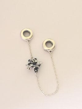 Ref.: 00329 Seguro de cadenas con dije en plata925