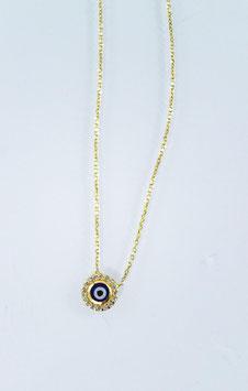 Ref.: 00358 Cadena en oro10k con dije de ojo turco
