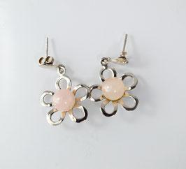 Ref.: 00243 Aretes en plata925 y cuarzo rosa