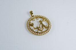 Ref.: 00344 Medalla en oro14K y zircon