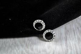Ref.: 00179 Aretes de plata, zircon y cristal