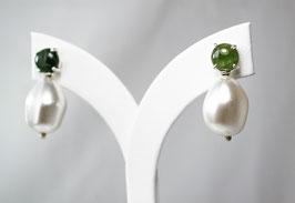 Ref.: 00332 Aretes de perla y Turmalina