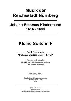 Edition Nr. 10-41: Kleine Suite in F