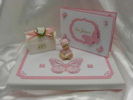 Geldgeschenk Geschenk Set zur Geburt Baby rosa