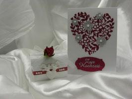 Geschenkverpackung zur Hochzeit Geschenktruhe mit Grußkarte