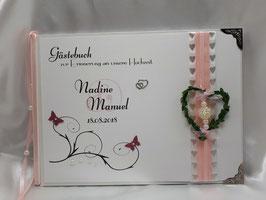 Gästebuch zur Hochzeit mit Fragen HGHF06