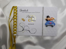 Gästebuch zur Hochzeit Metallic Figur GM1 Farbwahl