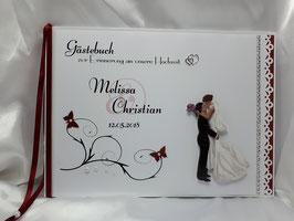Gästebuch zur Hochzeit mit Fragen Brautpaar Nr. 7