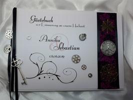 Gästebuch zur Hochzeit mit Fragen Steampunk