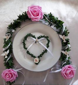 Ehrenplatz Kommunion Konfirmation Rosa/Weiß Mädchen