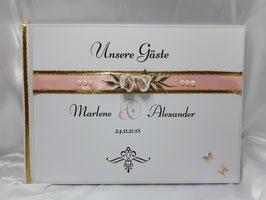 Gästebuch zur Hochzeit mit Fragen HGHF03