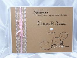 Gästebuch zur Hochzeit Vintage mit Fragen für die Gäste
