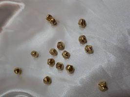 15 Kreuzschellen Glöckchen 15 mm aus Eisen mit Öse, Farbe: Gold