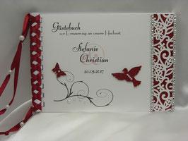 Gästebuch zur Hochzeit Blütenranke viele Farben