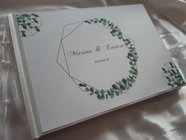 Gästebuch zur Hochzeit mit Fragen HGHGF-02