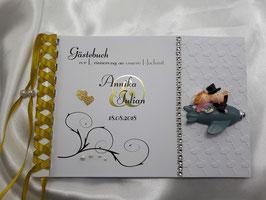 Gästebuch zur Hochzeit Metallic Figur GM2 Farbwahl