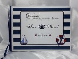 Gästebuch zur Hochzeit martim in dunkelblau