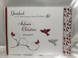 Gästebuch zur Hochzeit A4 Blütenranke viele Farben