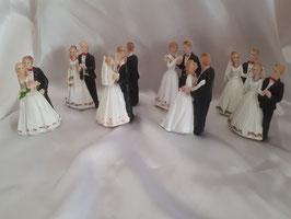 Set aus 8 Hochzeitsfiguren