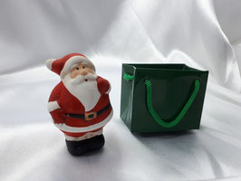 Weihnachtsmann Figur mit Tasche