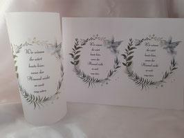 Gedenklicht Lichthülle zur Hochzeit Trauer Nr. 4