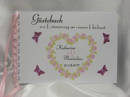 Gästebuch zur Hochzeit Rosenherz DIN A 5