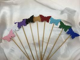 10x Spalier Steck Schmetterlinge