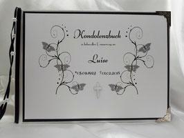 Kondolenzbuch Ranken Schmetterlinge Trauer