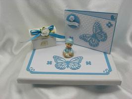 Geldgeschenk Geschenk Set zur Geburt Baby blau