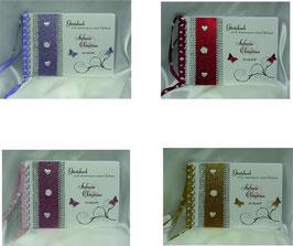 Gästebuch zur Hochzeit  Farbwahl mit Namen/Datum