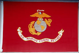 U.S. Marine Corps Retired Flag