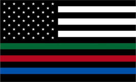 US Police-Fire-Border Patrol Support Flag