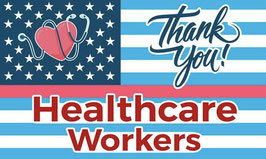 Thank You Healthcare Workers Flag