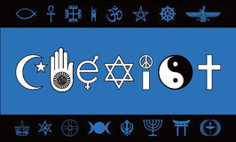 Inter-Faith Coexist Flag